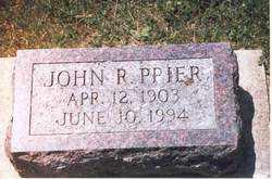 PRIER, JOHN RAYMOND - Henderson County, Illinois   JOHN RAYMOND PRIER - Illinois Gravestone Photos