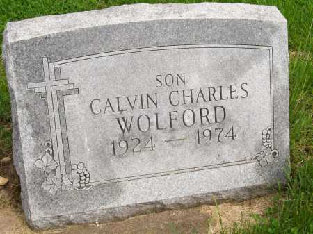 WOLFORD, CALVIN CHARLES - Henderson County, Illinois   CALVIN CHARLES WOLFORD - Illinois Gravestone Photos