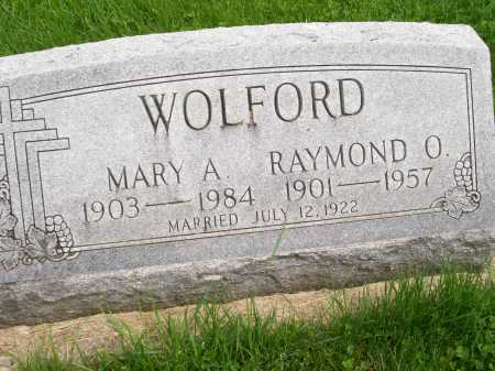WOLFORD, MARY A. - Henderson County, Illinois | MARY A. WOLFORD - Illinois Gravestone Photos