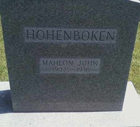 HOHENBOKEN, MAHLON JOHN - Henry County, Illinois | MAHLON JOHN HOHENBOKEN - Illinois Gravestone Photos