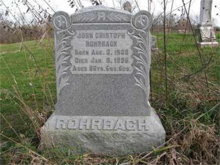 ROHRBACH, JOHN CHRISTOPH - Henry County, Illinois | JOHN CHRISTOPH ROHRBACH - Illinois Gravestone Photos