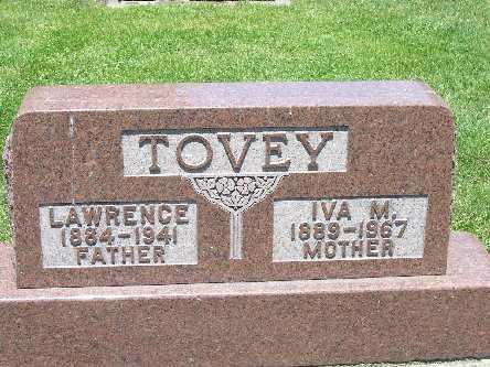 TOVEY, IVA M. - Iroquois County, Illinois   IVA M. TOVEY - Illinois Gravestone Photos