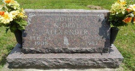 ALEXANDER, N OPAL - Jefferson County, Illinois | N OPAL ALEXANDER - Illinois Gravestone Photos