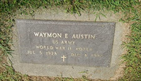 AUSTIN (VETERAN WWII KOR), WAYMON E - Jefferson County, Illinois | WAYMON E AUSTIN (VETERAN WWII KOR) - Illinois Gravestone Photos