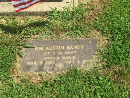 BANDY (VETERAN WWII), WILLIAM AUSTIN - Jefferson County, Illinois | WILLIAM AUSTIN BANDY (VETERAN WWII) - Illinois Gravestone Photos
