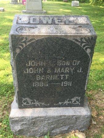 BARNETT, JOHN LOWELL - Jefferson County, Illinois | JOHN LOWELL BARNETT - Illinois Gravestone Photos