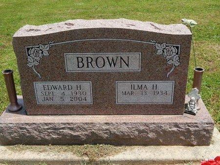 BROWN, EDWARD H - Jefferson County, Illinois | EDWARD H BROWN - Illinois Gravestone Photos