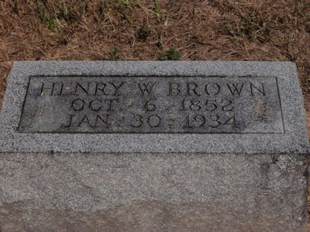 BROWN, HENRY W - Jefferson County, Illinois | HENRY W BROWN - Illinois Gravestone Photos