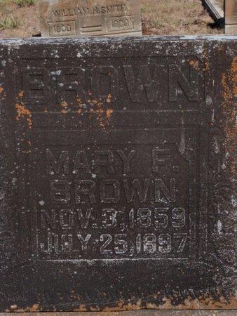 BROWN, MARY F - Jefferson County, Illinois | MARY F BROWN - Illinois Gravestone Photos