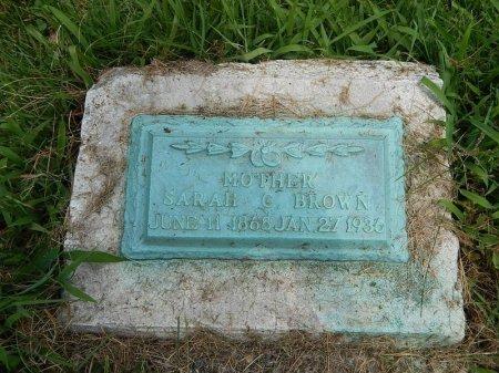 BROWN, SARAH C - Jefferson County, Illinois   SARAH C BROWN - Illinois Gravestone Photos