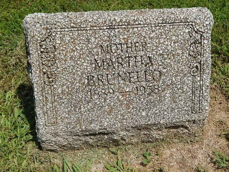 BRUNELLO, MARTHA - Jefferson County, Illinois | MARTHA BRUNELLO - Illinois Gravestone Photos