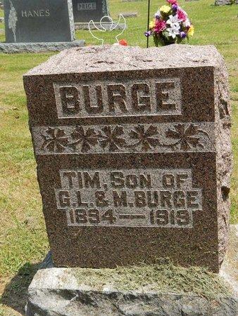 BURGE, TIM - Jefferson County, Illinois | TIM BURGE - Illinois Gravestone Photos