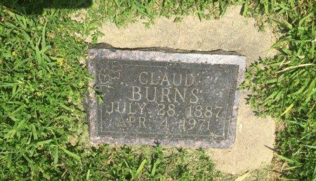 BURNS, CLAUD - Jefferson County, Illinois | CLAUD BURNS - Illinois Gravestone Photos