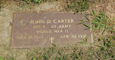 CARTER (VETERAN WWII), JOHN D - Jefferson County, Illinois | JOHN D CARTER (VETERAN WWII) - Illinois Gravestone Photos