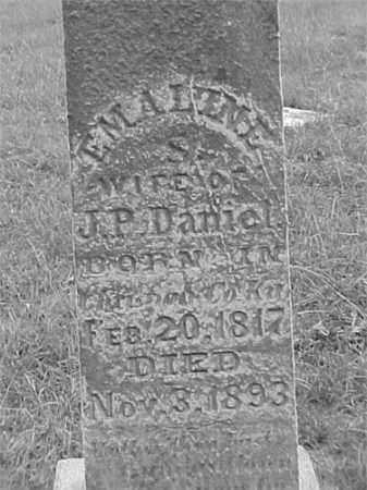 DANIEL, EMALINE S. - Jefferson County, Illinois | EMALINE S. DANIEL - Illinois Gravestone Photos