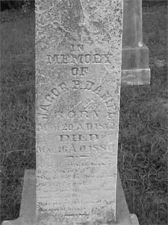 DANIEL, JACOB P. - Jefferson County, Illinois | JACOB P. DANIEL - Illinois Gravestone Photos