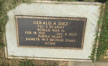DIEZ (VETERAN WWII), GERALD A - Jefferson County, Illinois | GERALD A DIEZ (VETERAN WWII) - Illinois Gravestone Photos