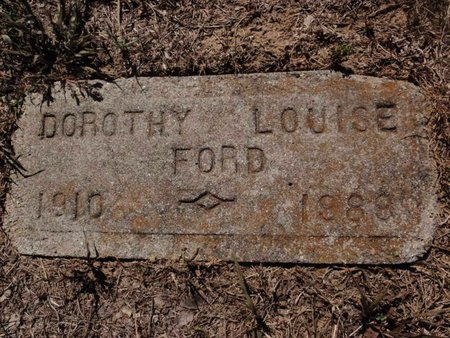 FORD, DOROTHY LOUISE - Jefferson County, Illinois   DOROTHY LOUISE FORD - Illinois Gravestone Photos