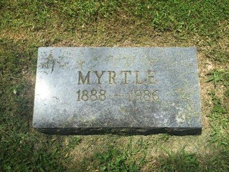HANES, MYRTLE - Jefferson County, Illinois | MYRTLE HANES - Illinois Gravestone Photos