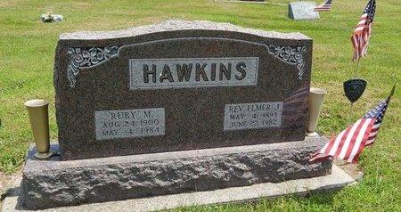 HAWKINS, ELMER J (REVEREND) - Jefferson County, Illinois | ELMER J (REVEREND) HAWKINS - Illinois Gravestone Photos