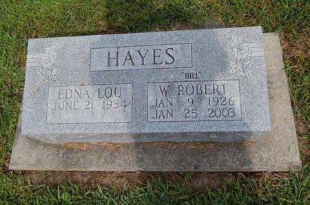 "HAYES, W ROBERT ""BILL"" - Jefferson County, Illinois   W ROBERT ""BILL"" HAYES - Illinois Gravestone Photos"