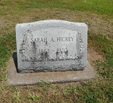 HICKEY, SARAH A - Jefferson County, Illinois | SARAH A HICKEY - Illinois Gravestone Photos