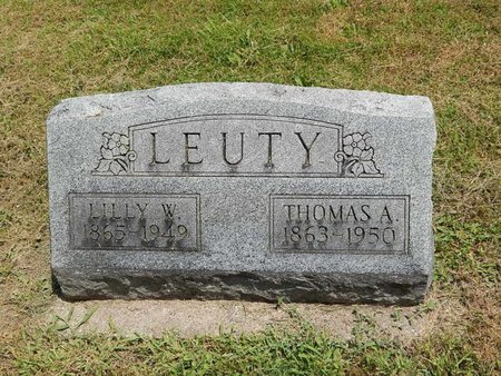 LEUTY, LILLY WESTER - Jefferson County, Illinois | LILLY WESTER LEUTY - Illinois Gravestone Photos