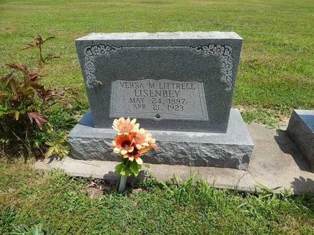 LITTRELL LISENBEY, VERSA M - Jefferson County, Illinois   VERSA M LITTRELL LISENBEY - Illinois Gravestone Photos