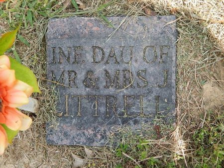 LITTRELL, INFANT DAUGHTER - Jefferson County, Illinois | INFANT DAUGHTER LITTRELL - Illinois Gravestone Photos