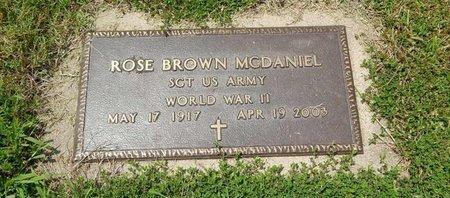 MCDANIEL (VETERAN WWII), ROSE - Jefferson County, Illinois   ROSE MCDANIEL (VETERAN WWII) - Illinois Gravestone Photos