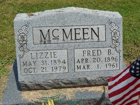 MCMEEN, LIZZIE - Jefferson County, Illinois | LIZZIE MCMEEN - Illinois Gravestone Photos