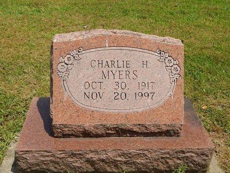 MYERS, CHARLIE H - Jefferson County, Illinois | CHARLIE H MYERS - Illinois Gravestone Photos