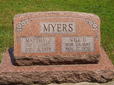 MYERS, WILL D - Jefferson County, Illinois | WILL D MYERS - Illinois Gravestone Photos