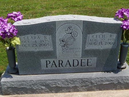 PARADEE, CECIL R - Jefferson County, Illinois | CECIL R PARADEE - Illinois Gravestone Photos