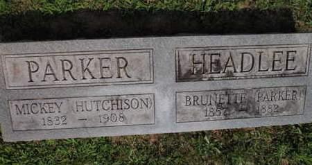 "PARKER, MICAH ANN ""MICKEY"" - Jefferson County, Illinois | MICAH ANN ""MICKEY"" PARKER - Illinois Gravestone Photos"