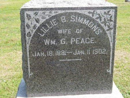 PEACE, LILLIE B - Jefferson County, Illinois | LILLIE B PEACE - Illinois Gravestone Photos