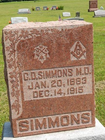 SIMMONS, C D (DOCTOR) - Jefferson County, Illinois | C D (DOCTOR) SIMMONS - Illinois Gravestone Photos