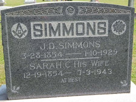 SIMMONS, SARAH CAROLINE - Jefferson County, Illinois | SARAH CAROLINE SIMMONS - Illinois Gravestone Photos