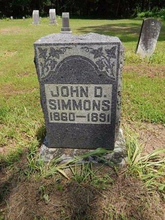 SIMMONS, JOHN D - Jefferson County, Illinois | JOHN D SIMMONS - Illinois Gravestone Photos