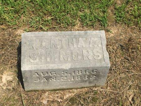 SIMMONS, MARTHA A - Jefferson County, Illinois | MARTHA A SIMMONS - Illinois Gravestone Photos