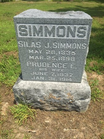 SIMMONS, PRUDENCE E - Jefferson County, Illinois | PRUDENCE E SIMMONS - Illinois Gravestone Photos