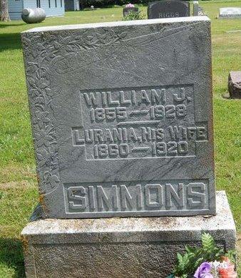 SIMMONS, LURANIA - Jefferson County, Illinois | LURANIA SIMMONS - Illinois Gravestone Photos
