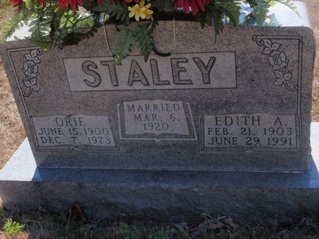 STALEY, EDITH A - Jefferson County, Illinois | EDITH A STALEY - Illinois Gravestone Photos