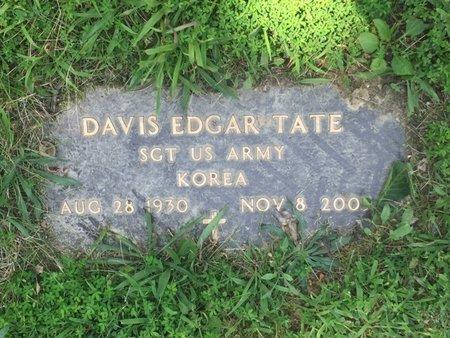 TATE (VETERAN KOR), DAVIS EDGAR - Jefferson County, Illinois | DAVIS EDGAR TATE (VETERAN KOR) - Illinois Gravestone Photos