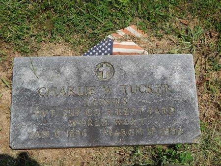 TUCKER (VETERAN WWI), CHARLIE W - Jefferson County, Illinois   CHARLIE W TUCKER (VETERAN WWI) - Illinois Gravestone Photos