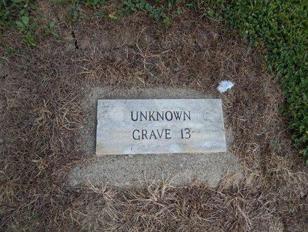 UNKNOWN, GRAVE 13 - Jefferson County, Illinois | GRAVE 13 UNKNOWN - Illinois Gravestone Photos