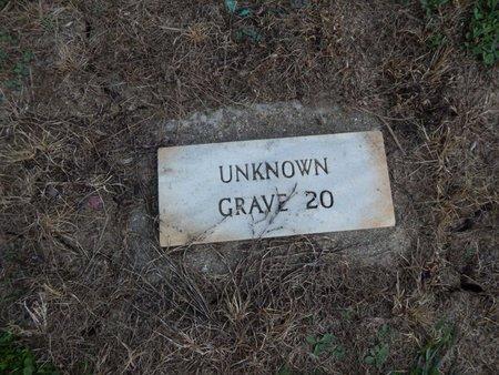 UNKNOWN, GRAVE 20 - Jefferson County, Illinois   GRAVE 20 UNKNOWN - Illinois Gravestone Photos