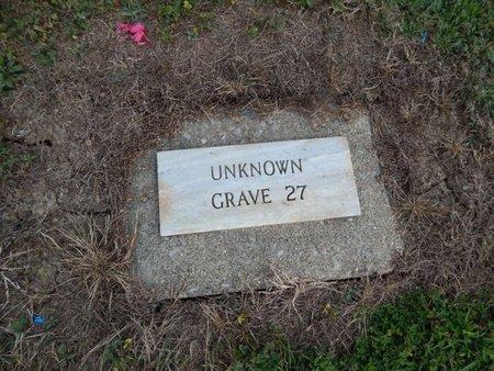 UNKNOWN, GRAVE 27 - Jefferson County, Illinois | GRAVE 27 UNKNOWN - Illinois Gravestone Photos