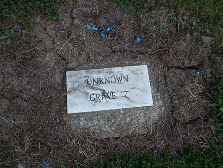 UNKNOWN, GRAVE 7 - Jefferson County, Illinois | GRAVE 7 UNKNOWN - Illinois Gravestone Photos