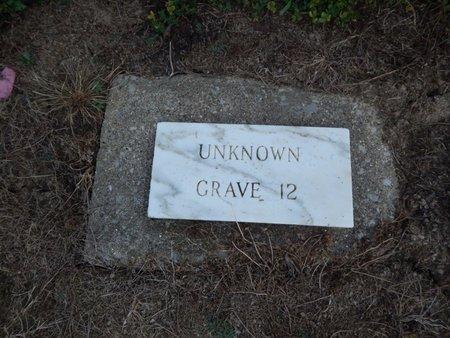 UNKNOWN, GRAVE 12 - Jefferson County, Illinois | GRAVE 12 UNKNOWN - Illinois Gravestone Photos